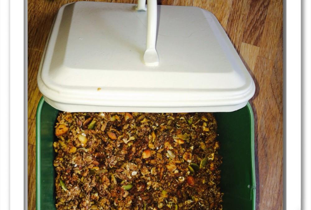 Godaste granolan-bakad musli