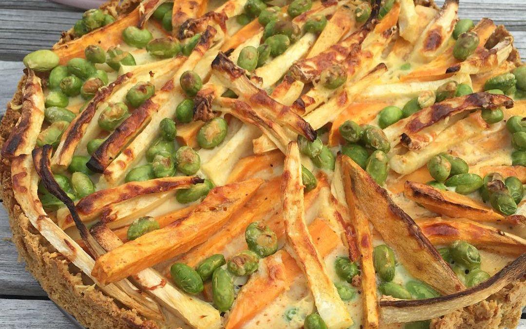 Glutenfri vegetarisk proteinfylld paj